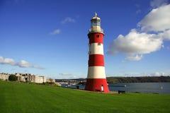 красивейший маяк plymouth Великобритания Стоковое фото RF