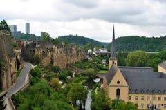 красивейший мир Люксембурга города мостов Стоковые Фотографии RF