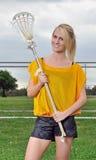 Красивейший молодой женский игрок lacrosse Стоковое фото RF