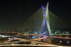 Красивейший мост в Сан-Паулу Стоковая Фотография RF