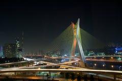 Красивейший мост в Сан-Паулу Стоковое Изображение
