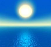красивейший океан ночи Стоковое фото RF