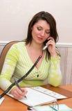 красивейший офис девушки Стоковая Фотография