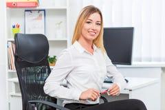 красивейший офис девушки Стоковое Изображение