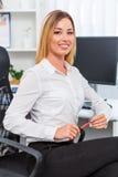 красивейший офис девушки Стоковые Изображения RF