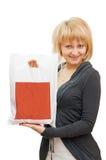 красивейший пакет девушки Стоковая Фотография