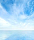 красивейший панорамный взгляд неба моря Стоковые Фотографии RF