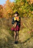 красивейший парк девушки Стоковое Фото