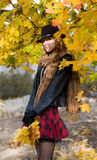красивейший парк девушки Стоковые Фото