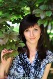 красивейший парк девушки Стоковая Фотография RF