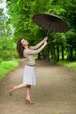 красивейший парк девушки Стоковые Фотографии RF