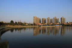 красивейший пейзаж озера Стоковое фото RF
