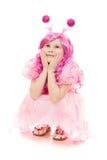 красивейший пинк волос девушки платья Стоковое фото RF