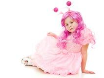красивейший пинк волос девушки платья Стоковое Изображение RF