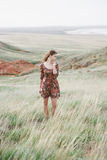 красивейший пинк волос девушки Стоковое Фото