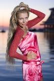красивейший пинк девушки одежд Стоковая Фотография RF