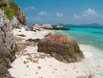 Красивейший пляж в острове Ko Kham Стоковое Изображение RF