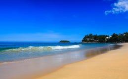 Красивейший пляж лета Стоковое фото RF