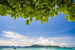 Красивейший пляж под валом Стоковое Фото