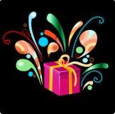 красивейший подарок рождества дня рождения иллюстрация вектора