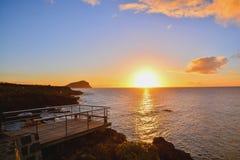 Красивейший покрашенный заход солнца Стоковые Фото