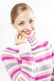 красивейший покрашенный свитер девушки Стоковые Изображения RF