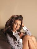 красивейший портрет брюнет Стоковая Фотография RF