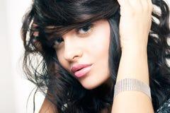 красивейший портрет брюнет Стоковые Изображения RF