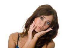 красивейший портрет девушки голубых глазов Стоковое Изображение RF