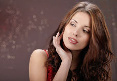 красивейший портрет девушки сексуальный Стоковые Фото