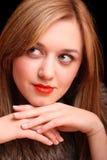 красивейший портрет девушки сексуальный Стоковая Фотография