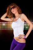 красивейший портрет девушки танцы Стоковая Фотография