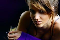 красивейший портрет девушки стоковые фото