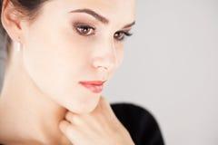 красивейший портрет девушки брюнет Стоковое Изображение RF