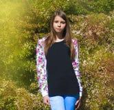 красивейший портрет девушки подростковый Стоковые Изображения