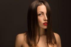 красивейший портрет девушки сексуальный Стоковые Изображения