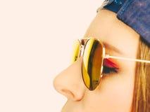 красивейший портрет девушки стороны Стоковая Фотография RF