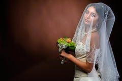 красивейший портрет невесты стоковое изображение rf
