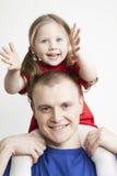красивейший портрет отца семьи дочи Стоковые Изображения RF