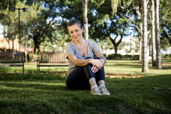 красивейший портрет парка девушки Стоковые Изображения RF