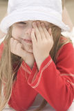 красивейший портрет шлема ii девушки Стоковая Фотография