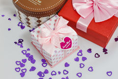 красивейший подарок коробок Стоковое фото RF