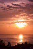 Красивейший приходить захода солнца Стоковое фото RF