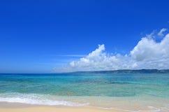 Красивейший пляж в Окинава Стоковое Изображение