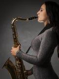 красивейший саксофон игрока Стоковое Изображение RF