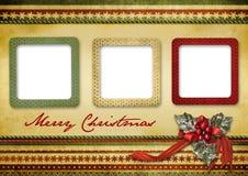 красивейший сбор винограда приветствию рождества карточки Стоковые Фото