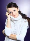 красивейший свитер девушки Стоковое Изображение