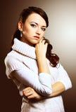 красивейший свитер девушки Стоковые Фотографии RF