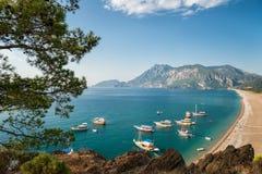 красивейший свободный полет среднеземноморской Стоковое Изображение