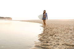 красивейший серфер девушки Стоковое Изображение